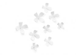 10 stk. blomster i hvid til ophæng med klæbemiddel