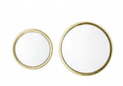 Blommingville spejl, guld, sæt af 2 stk.