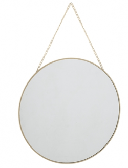 Bloomingville spejl, rundt, guld
