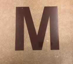 Bogstav i   Chokolade brun 30 cm. - Statement letter