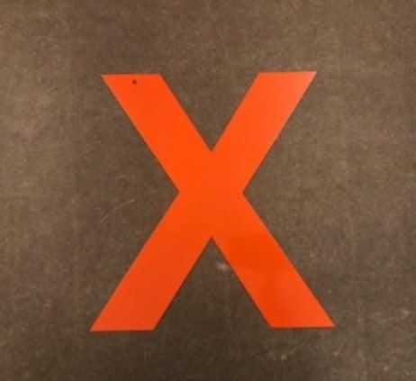 Bogstav i   Orange 50 cm. - Statement letter