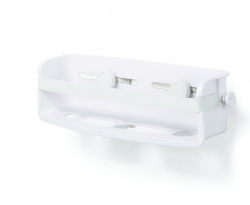 Flexible gele-lås sugekop badeværelse hylde i hvid fra Umbra