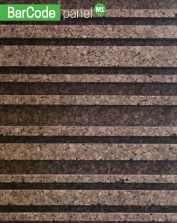Korkvæg med lamel mønster M1 100 x 50 x 4 cm