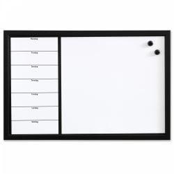 Whiteboard ugetavle 60 x 40 cm. Dansk