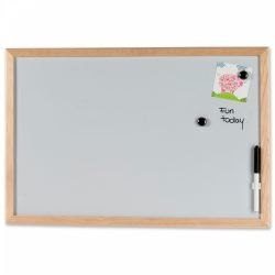 Whiteboard 60 x 40 cm. med træramme