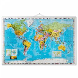 Rullet Verdens kort 137 x 89 cm.