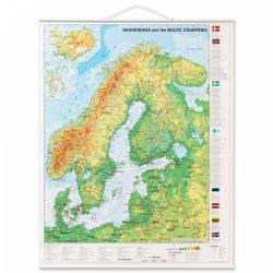 Rullet Scandinavisk kort 97 x 67 cm.