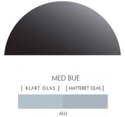 ALU stænkpanel halvcirkel i JERNFRIT- glas, - FLERE STØRRELSER