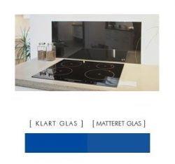 BLÅ stænkpanel firkantet JERNFRIT- glas, - FLERE STØRRELSER