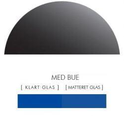 BLÅ stænkpanel halvcirkel i JERNFRIT- glas, - FLERE STØRRELSER