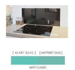 CLASSIC MINT stænkpanel firkantet JERNFRIT- glas, - FLERE STØRRELSER