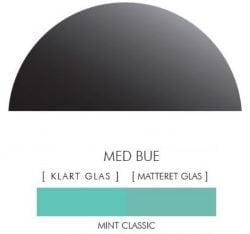 CLASSIC MINT stænkpanel halvcirkel i JERNFRIT- glas, - FLERE STØRRELSER