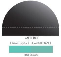 CLASSIC MINT stænkpanel m. bue i JERNFRIT- glas, - FLERE STØRRELSER