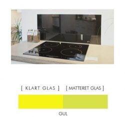 GUL stænkpanel firkantet JERNFRIT- glas, - FLERE STØRRELSER