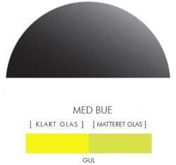 GUL stænkpanel halvcirkel i JERNFRIT- glas, - FLERE STØRRELSER