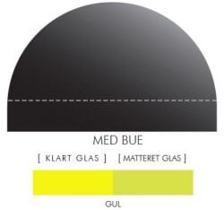 GUL stænkpanel m. bue i JERNFRIT- glas, - FLERE STØRRELSER