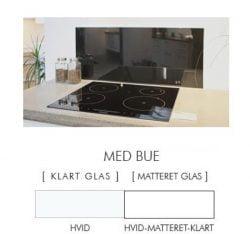 HVID stænkpanel firkantet JERNFRIT- glas, - FLERE STØRRELSER