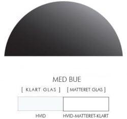 HVID stænkpanel halvcirkel i JERNFRIT- glas, - FLERE STØRRELSER