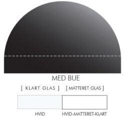 HVID stænkpanel m. bue i JERNFRIT- glas, - FLERE STØRRELSER
