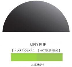 LIMEGRØN stænkpanel halvcirkel i JERNFRIT- glas, - FLERE STØRRELSER
