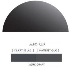 MØRK GRAFIK stænkpanel halvcirkel i JERNFRIT- glas, - FLERE STØRRELSER