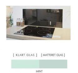 MINT stænkpanel firkantet JERNFRIT- glas, - FLERE STØRRELSER