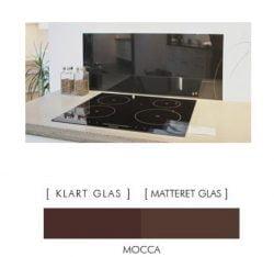 MOCCA stænkpanel firkantet JERNFRIT- glas, - FLERE STØRRELSER
