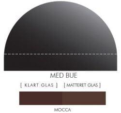 MOKKA stænkpanel m. bue i JERNFRIT- glas, - FLERE STØRRELSER
