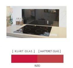 ORANGE stænkpanel firkantet JERNFRIT- glas, - FLERE STØRRELSER