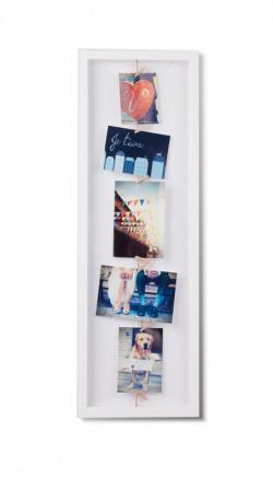 Billedramme 72x24 med snor og klemmer i hvid fra Umbra
