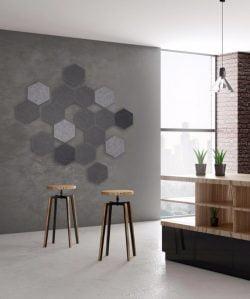 Hexagon 250 mm i flere farver og tykkelser