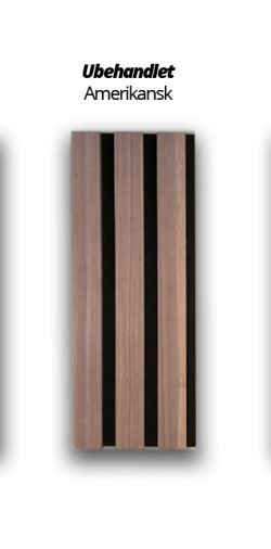 Premium Akupanel Amerikansk Valnød Ubh.  3000x600