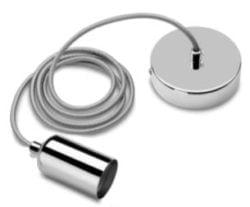 E27 Fatning Metal blank sølv
