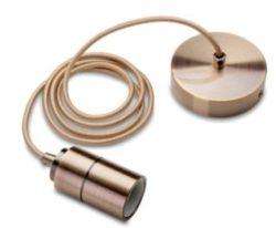 E27 Fatning Metal børstet bronze