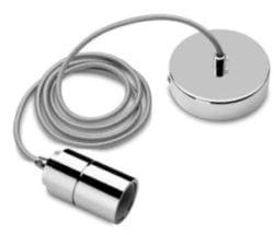 E27 Fatning Metal børstet sølv