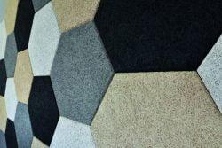 Fibrotech Hexagoner 0,98 m2 - Flere farver