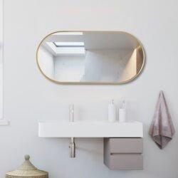 Premium spejl Yrsa  med Guld  alu ramme - Flere størrelser