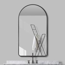 Premium spejl Lea  med Sort  alu ramme - Flere størrelser