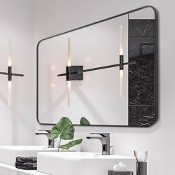 Premium spejl Lisa med sort alu ramme - Flere størrelser