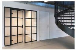 Dobbeltdør til glasvæg 90x210 cm i ægte new york stil, flot design