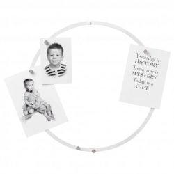 Hvid magnetisk cirkeltavle / dekorationsring 35 cm