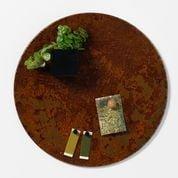 Magnetisk cirkeltavle 35 cm - metaltavle rustet look