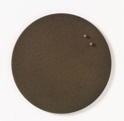 Magnetisk cirkeltavle 35 cm - metaltavle råjern look