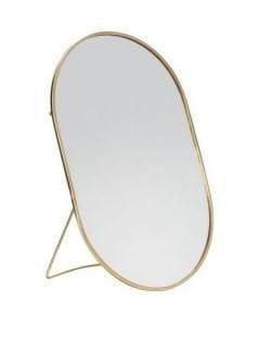 Ovalt Bordspejl Med Fod