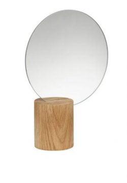 Bordspejl Med Fod Af Træ