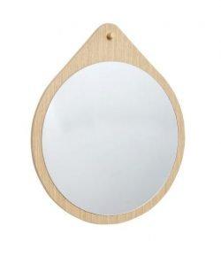 Rundt Vægspejl i egetræ, FSC