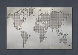 Dampa Akustik verdenskort  i perforeret stål