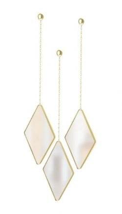 Umbra dima Diamond Mirrors (Sæt med 3) - Messing