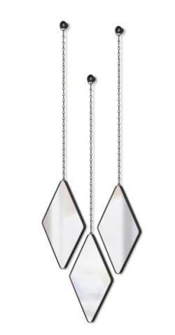 Umbra Dima Diamond Mirrors (Sæt med 3) - Sort