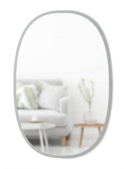 Nav Ovalt Spejl - Grå
